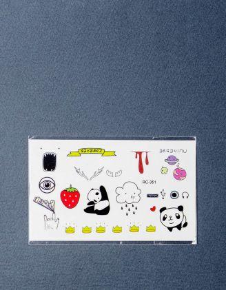 Тату на тіло тимчасове із зображенням панди | 219118-21-XX