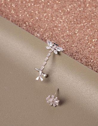 Сережки у вигляді бабки та квітки | 240994-06-XX