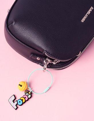 Брелок на сумку з написом та кулькою   237406-37-XX