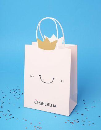 Пакет a shop подарунковий з принтом смайлика   236020-44-XX