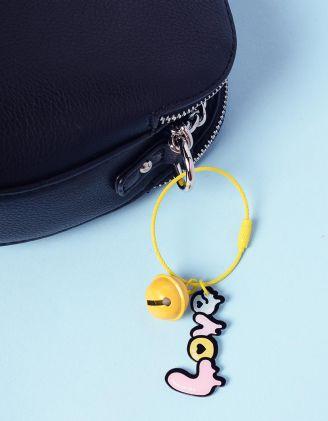 Брелок на сумку з написом та кулькою   237406-19-XX