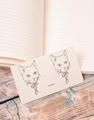 Тату на тіло тимчасове з зображенням кішки | 239040-02-XX