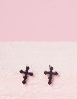 Сережки пусети з хрестами | 240285-02-XX