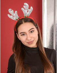 Обідок для волосся з рогами оленя із паєток | 239753-05-XX