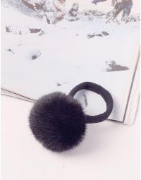 Резинка для волосся з хутряним помпоном | 240087-02-XX