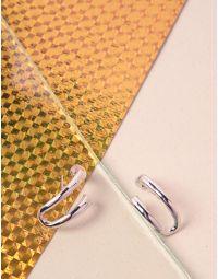 Сережки вигнуті з гвіздочками | 239724-05-XX