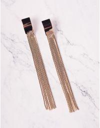 Сережки довгі з ланцюжками | 235979-04-XX