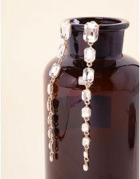 Сережки довгі з кристалами | 236615-08-XX