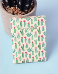 Обкладинка на паспорт з малюнком кактусів | 220959-21-XX