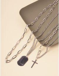 ПІдвіска із ланцюжків з хрестиком | 238851-05-XX