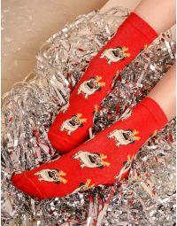 Шкарпетки з новорічним принтом | 239275-15-XX
