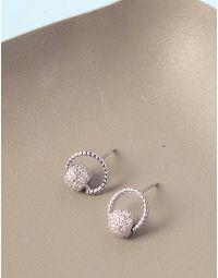 Сережки пусети з кульками у стразах | 236520-05-XX