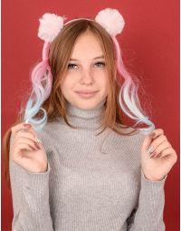 Обідок для волосся з помпонами | 239119-14-XX