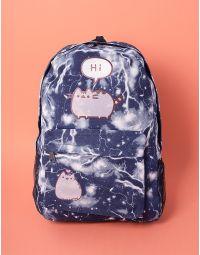 Рюкзак молодіжний об ємний з малюнками кицьки | 237471-30-XX