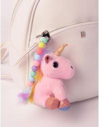 Брелок на сумку у вигляді єдинорога з кольоровими намистинами | 238217-14-XX