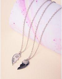 Підвіска парна з кулонами у вигляді серця з камінцями | 237808-05-XX