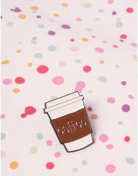 Брошка у вигляді склянки кави | 238094-12-XX