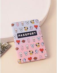 Обкладинка на паспорт з малюнком бтс | 238411-21-XX