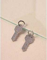 Сережки у вигляді ключів зі стразами | 238683-06-XX
