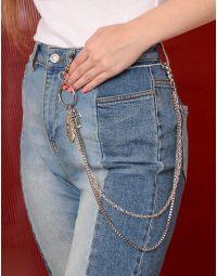 Ланцюжок подвійний на джинси та одяг з хрестом | 238829-05-XX