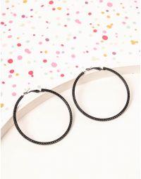 Сережки кільця зі стразами | 238629-02-XX