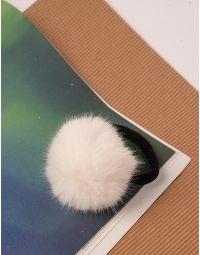 Резинка для волосся з хутряним помпоном | 240087-01-XX