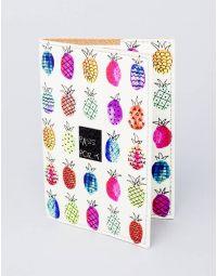 Обкладинка на паспорт з кольоровими ананасами | 220967-21-XX
