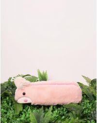 Пенал хутряний з вушками у вигляді кролика | 238834-14-XX