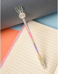 Ручка з кольоровою пастою та зайчиком на кінці | 237823-37-XX