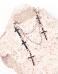 Моносережка кафа з хрестами на ланцюжках | 238865-05-XX