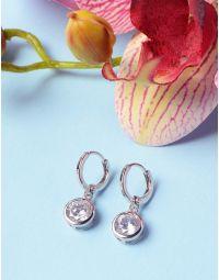 Сережки кільця з кристалами | 236172-06-XX
