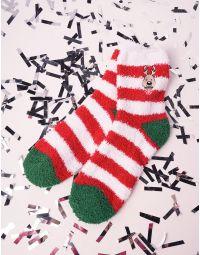 Шкарпетки теплі з новорічним принтом | 239519-36-XX
