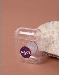 Чохол для навушників прозорий з написом nasa | 238055-13-XX