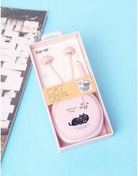 Навушники у чохлі з малюнком кота | 237360-14-XX