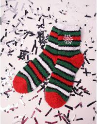 Шкарпетки теплі з новорічним принтом | 239519-38-XX