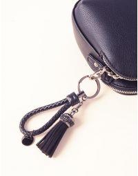Брелок на сумку з плетеним ремінцем та китицею | 236677-02-XX