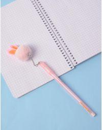 Ручка з хутряним брелоком з вушками | 236296-14-XX