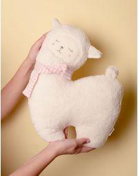 Іграшка м яка альпака зі смугастим шарфом | 238297-01-XX