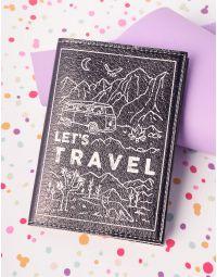 Обкладинка на паспорт з написом lets travel   221337-02-XX