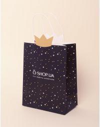 Пакет подарунковий a shop з короною та зірочками | 237924-02-XX