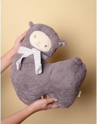 Іграшка м яка альпака зі смугастим шарфом | 238297-11-XX