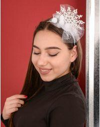 Обідок для волосся новорічний зі сніжинкою | 239889-01-XX