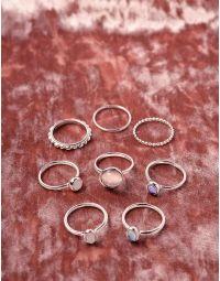 Кільця фалангові з камінцями | 238724-05-XX