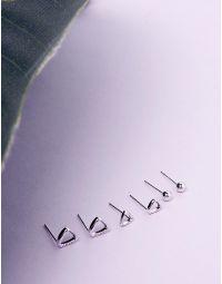 Сережки пусети в наборі з 6 шт | 235917-05-XX