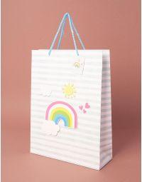 Пакет подарунковий  з молодіжним принтом | 237832-37-15