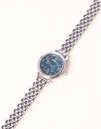 Годинник з квітковим принтом та металевим ремінцем   237268-62-XX