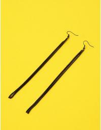 Сережки довгі подвійні інкрустовані стразами | 235968-02-XX