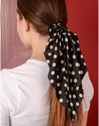 Резинка для волосся у горошок з великим бантом | 238354-02-XX