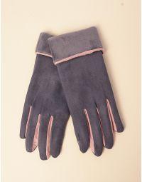 Рукавиці жіночі двокольорові | 238894-28-XX