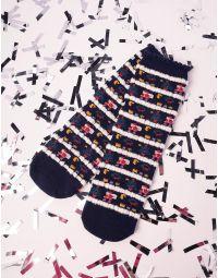 Шкарпетки смугасті новорічні | 228248-30-XX